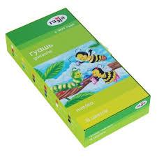 """<b>Гуашь Гамма</b> """"<b>Пчелка</b>"""", 18 цветов, 20мл, картон   Товары для ..."""