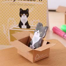 <b>50pcs</b>/<b>Lot</b> Korean <b>Stationery</b> Cute Cat Memo Pad Sticky Note Paper ...