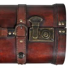 <b>Wood</b> Made <b>Pirate Treasure Chest Wooden</b> Iron Lock Leather Chest ...