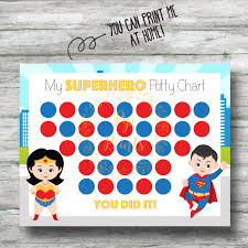 superhero potty printable superheo potty training chart instant wonder w and superman pdf