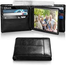<b>Mens Wallet</b> RFID <b>Genuine Leather</b> Bifold <b>Wallets</b> For <b>Men</b>, ID ...