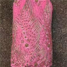 <b>Latest Nigerian Lace</b> Fabric 2019 High Quality Blue <b>beads Lace</b> ...