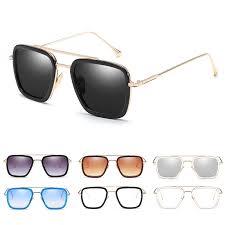 <b>Fashion Square Iron Man</b> with Sunglasses Retro Men Women ...