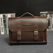 Online Shop Designer <b>Men briefcase</b> Crazy horse <b>Leather</b> Shoulder ...