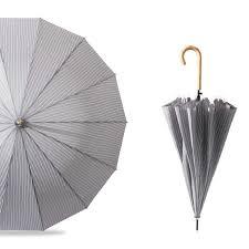 2019 <b>Clear Large Wooden Handle</b> Striped Sunny Umbrella Rain ...