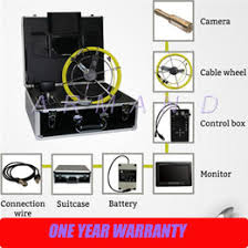 wp90b 30m pipe sewer inspection camera waterproof ip68 20m drain industrial endoscope video system 9inch lcd monitor