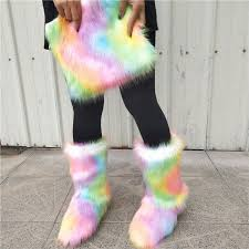 China Hot Selling <b>Adult</b> Kids Winter Wholesale <b>Faux Fur</b> Furry Boots ...