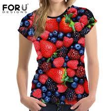 <b>FORUDESIGNS</b> 2019 Summer <b>T shirt Women's</b> Tops <b>Tees</b> 3D Print ...