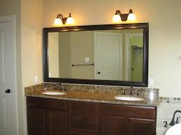 satin nickel bathroom faucets: fancy bathroom light brushed nickel and simple mirrors with wooden vanity cabinet