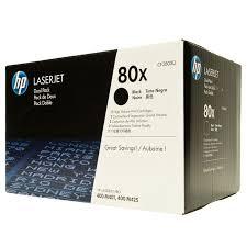 (80X), Black <b>картридж</b> для лазерных принтеров, <b>двойная упаковка</b>