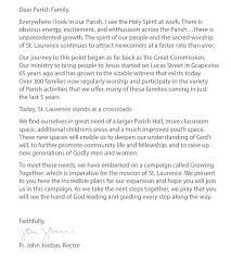 st laurence church southlake tx > letter to the parish letter to the parish