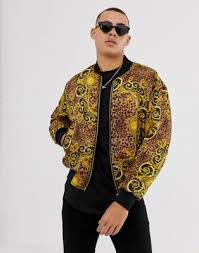 Двусторонняя <b>куртка</b> с принтом в стиле барокко <b>Versace Jeans</b> ...