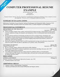 sample resume computer skills  tomorrowworld co  computer skills resume sample