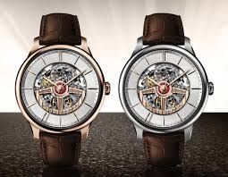 perrelet first class double rotor skeleton time transformed