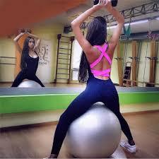 <b>Fitness Sport Suit Women</b> Tracksuit Yoga Set Backless <b>Gym</b> ...