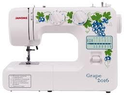 <b>Швейная машина Janome Grape</b> 2016 белый: купить за 7749 руб ...