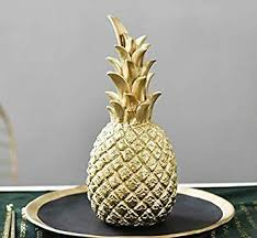 NUOCHEN <b>Ceramic</b> Round Pineapple Sculpture,<b>3 Colors Resin</b> ...