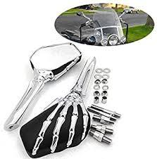 skull motorcycle mirrors - Amazon.com