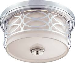 nuvo lighting 60 4627 harlow 2 light flush dome fixture with slate gray fabric ceiling domes with lighting