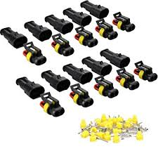 5 sets 4 pin car taillights high voltage package plug automotive connector with terminal 33471 0469 dj7044a 1 2 21