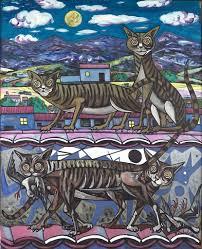 <b>Night cat</b> - Rafael Zabaleta Fuentes — Google Arts & Culture