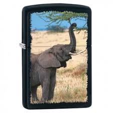 "Žiebtuvėliai - <b>Зажигалка ZIPPO</b> 28666 ""<b>Elephant</b>"" Black Matte"