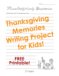 writing prompts  squarehead teachers thanksgiving memories  with picture sticker