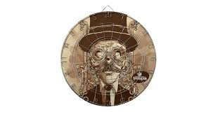 <b>Steampunk</b> Man <b>Hand Painted Vintage</b> Art Dartboard | Zazzle.com