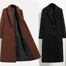 Caramel color Women's Wool <b>Jacket Coats</b> 2019 <b>Fashion</b> Casual ...