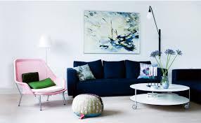 blue sofas living room:  coolest small living room design with blue sofa