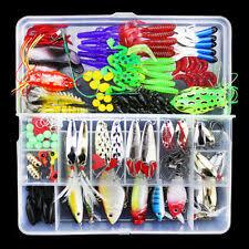 <b>141pcs</b>/lot <b>Fish Tackle</b> Box <b>Fishing Bait</b> Popper VIB Sequins <b>Lure</b> ...