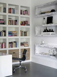 bright orderly office white furniture white walls natural light home office natural lighting home office
