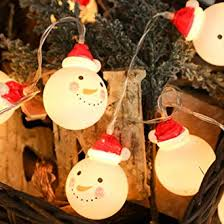 Buy Leoie LED Charming <b>Christmas Snowman Shape</b> String Light ...