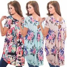 European and American Sexy Printed Loose Shirt Short ... - Vova