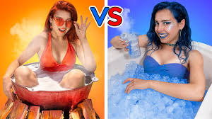 <b>Hot</b> vs Cold Challenge / Girl on Fire vs Icy Girl - YouTube