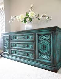 distressed blue furniture. i vintage hand painted french country cottage chic shabby distressed weathered turquoise teal blue dresser console cabinet furniture d