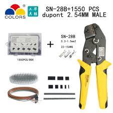 <b>SN 28B</b> dupont <b>crimp tool</b> 0.3 1.5mm2/22 15AWG 620pcs 2.54mm ...