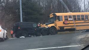 mom says tennessee school bus driver asked kids if they were school bus car and jeep crash in watertown