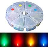 Elfeland <b>160pcs 3mm LED Light Emitting Diodes</b> Assorted Color ...