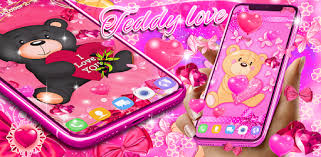 <b>Teddy bear</b> love hearts live wallpaper - Apps on Google Play