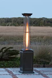 fire sense propane table top patio firesense mocha finish square flame heater