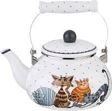 <b>Чайник Agness</b> Озорные коты, 934-357, <b>мультиколор</b>, 2,5 л ...