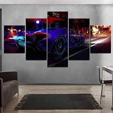 Wieoc Home Decor Canvas Paintings <b>Hd 5 Pieces</b> On The Street at ...