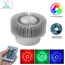 Modern <b>Aluminum</b> 3W RGB <b>LED</b> Wall Lamp <b>Novelty</b> Sunflower Wall ...