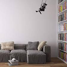 Vinyl Revolution Banksy Girl Swinging Wall Art Decal ... - Amazon.com