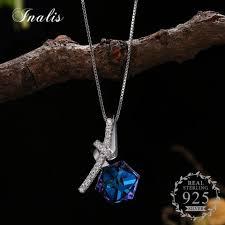 INALIS 925 серебро LEKANI <b>кристаллами</b> от swarovski колье ...