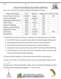 math word problems for kids third grade math problems tallest historical buildings metric