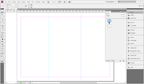 creating a tri fold template in indesign cs4 or cs5 step 7 the guide should now be selected and highlighted blue on the page