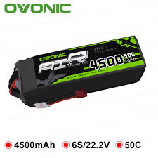 <b>Ovonic</b> 4500mAh <b>22.2V</b> Lipo <b>6S</b> 50C <b>100C</b> Lipo Battery Pack T and ...