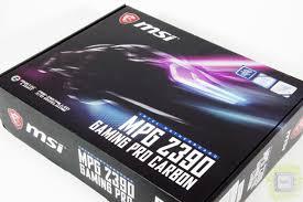 Обзор <b>материнской платы MSI MPG</b> Z390 Gaming Pro Carbon